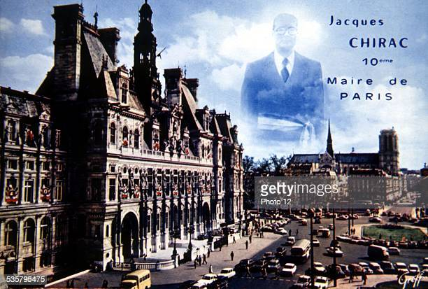 Postcard Jacques Chirac 10th mayor of Paris 20th century France