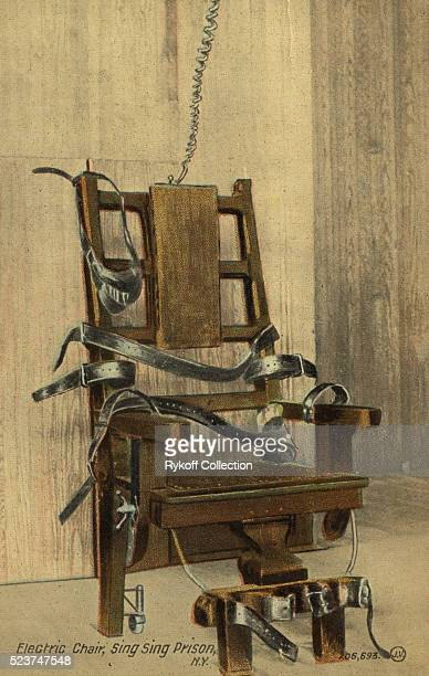 Postcard of Electric Chair at Sing Sing