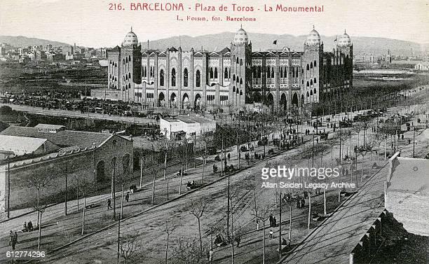 Postcard of Plaza de Toros Barcelona Spain circa 1910