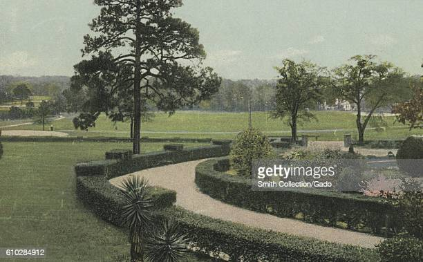 Postcard Of The Grounds At Kirkwood Hotel Camden South Carolina 1914 From New York