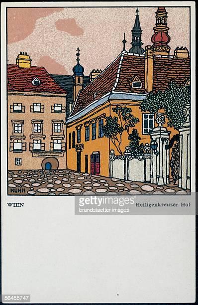 Postcard of the Heiligenkreuzer Hof by the Wiener Werkstaette [Heiligenkreuzer Hof Wiener WerkstaettePostkarte No 440 Um 1911]