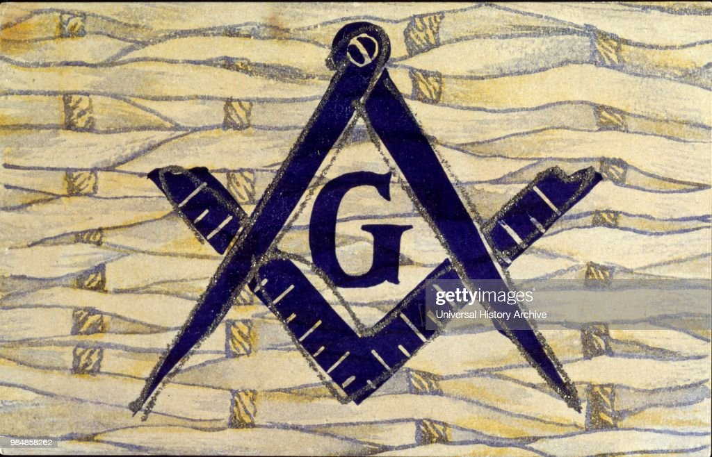 Postcard Showing Symbols Of Freemasonry Pictures Getty Images
