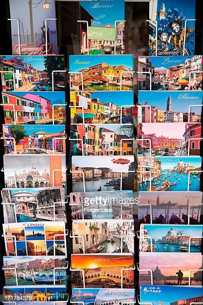 postcards for sale at souvenir shop - postcard stock pictures, royalty-free photos & images