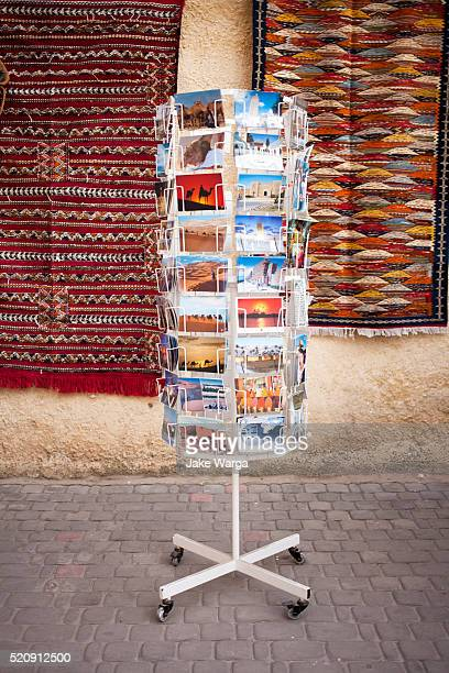 postcards for sale, el jadida, morocco - postcard stock pictures, royalty-free photos & images