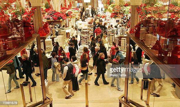 PostChristmas shoppers search for bargains in Macy's December 27 2006 in New York City Retailers are hoping that afterChristmas shoppers will help...