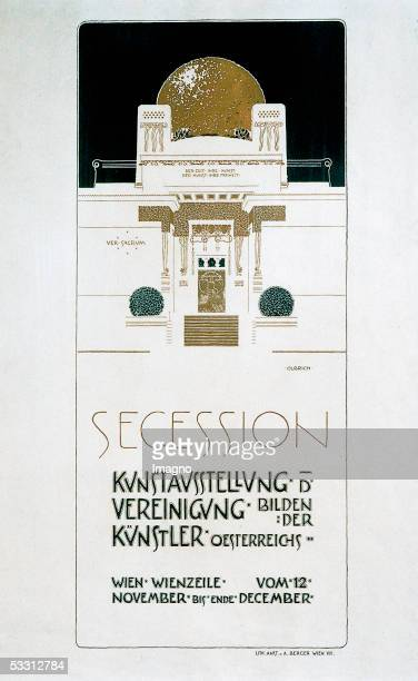 Poster 2nd exhibition of the Secession Coloured lithography by Joseph Maria Olbrich Vienna 1898 [Plakat 2 Ausstellung der Secession von Joseph Maria...