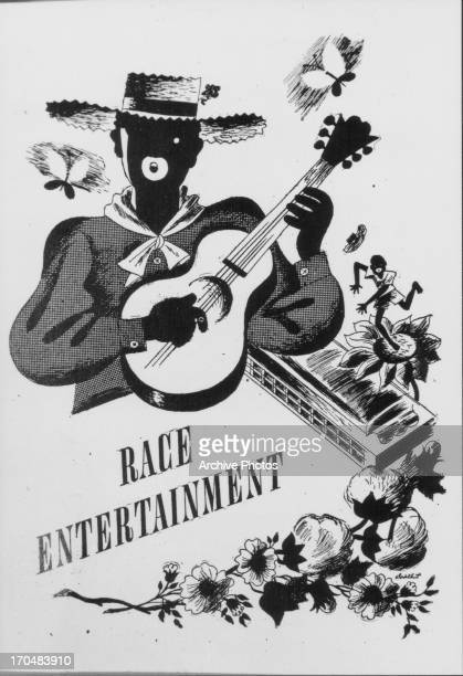 A poster adverting 'Race Entertainment' minstrel shows where white people performed skits and songs whilst in blackface makeup circa 18501910...