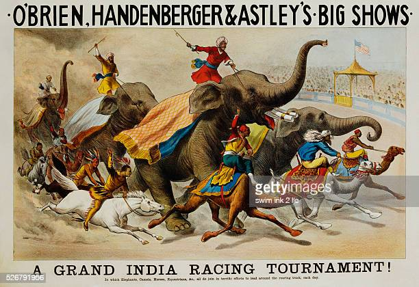 Poster Advertisement for O'Brien Handenberger Astley's Big Shows