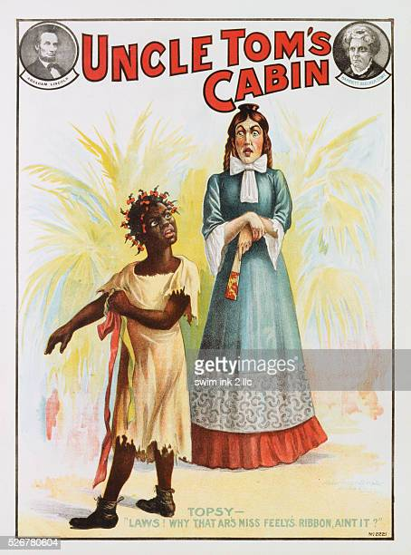 Poster Advertisement for Theater Adaptation of Uncle Tom's Cabin