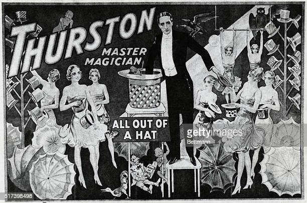 Poster advertisement for Thurston Master Magician Undated BPA2