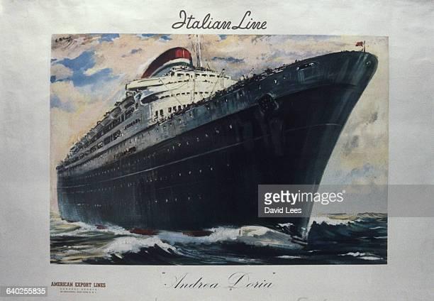 Poster advertisement of the Italian ship Andrea Doria