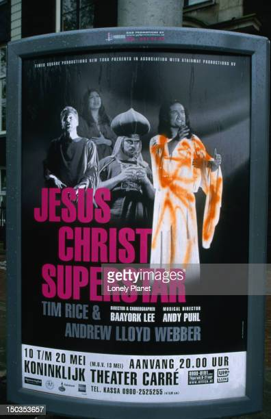 Poster advertising a performance at the Koninklijk Theater Carre, Amstel, the largest theatre in Amsterdam.