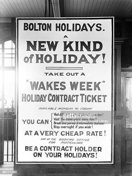 Poster advertising a Wakes Week ticket which was valid for a week and meant that you could take several day trips or stay somewhere overnight Wakes...