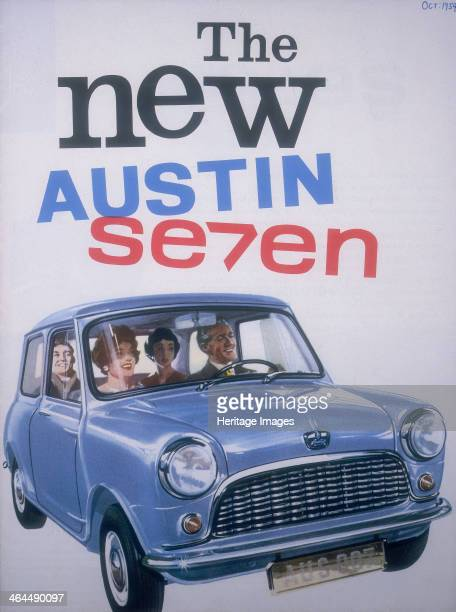 Poster advertising Austin cars from a catalogue 1959