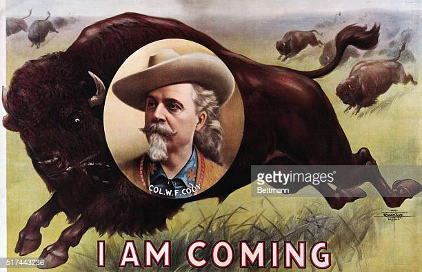 A 1900 poster advertising Buffalo Bill's Wild West Show