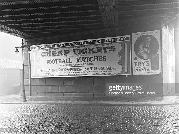 Poster advertising cheap tickets to visit football matches At this time people were beginning to get more paid holidays and leisure time However the...