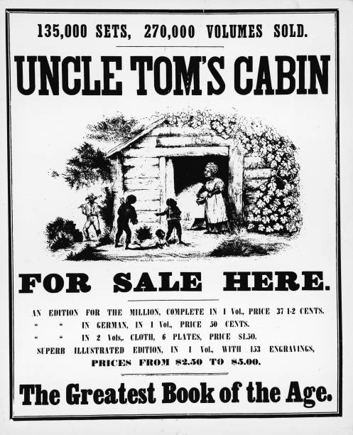 A poster advertising Harriet Beecher Stowe's best-selling...