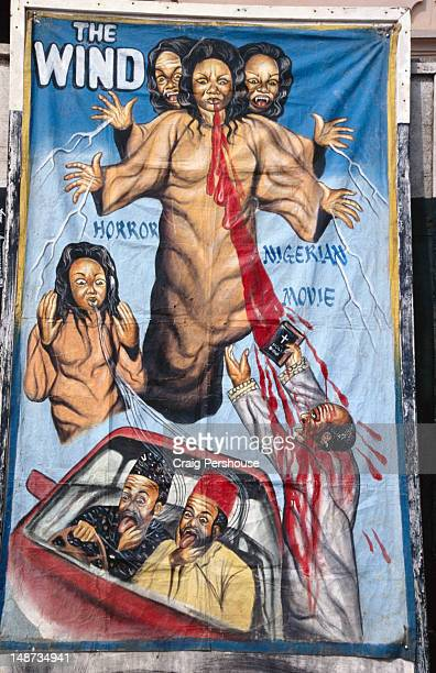 Poster advertising latest Nigerian bloody horror movie blockbuster.