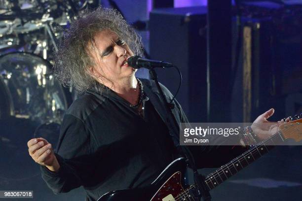 A poster advertising Robert Smith's Meltdown Festival in the Clore Ballroom at The Royal Festival Hall on June 24 2018 in London England