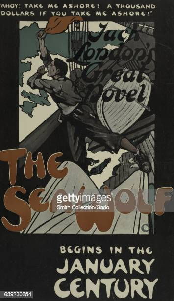 Poster advertising the adventure novel The Seawolf by Jack London 1903 From the New York Public Library