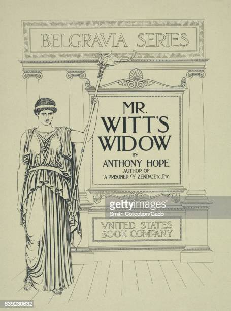 Poster advertising the novel 'Mr Witt's Widow' by Anthony Hope 1903 From the New York Public Library