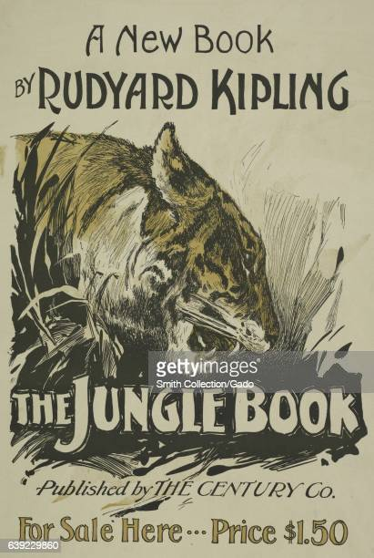 """Poster advertising the novel """"The Jungle Book"""" by Rudyard Kipling, 1903. From the New York Public Library. ."""