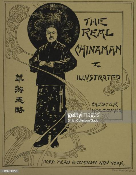 A poster advertising the novel 'The Real Chinamen' by Chester Holcombe 1903 From the New York Public Library