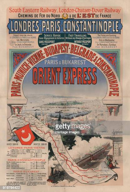 Poster advertising the Orient Express, 1888. Private Collection.