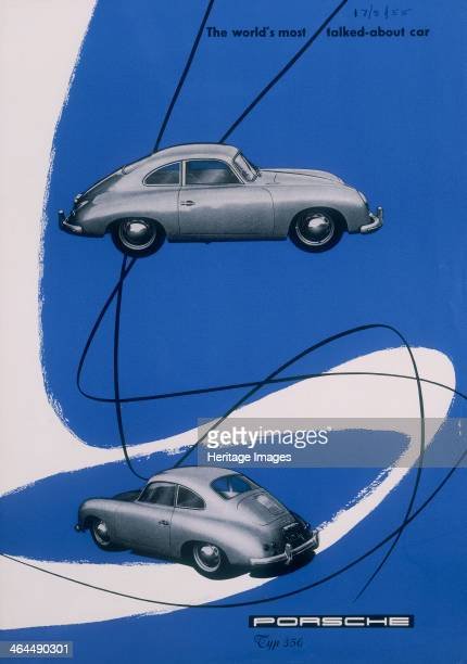 Poster advertising the Porsche 356 1955