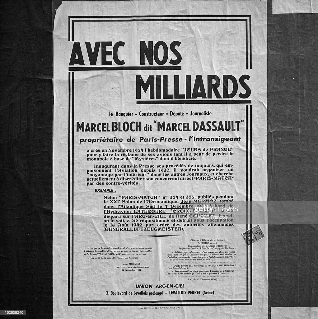 A Poster Against The Methods Of Marcel Dassault Le 9 Août