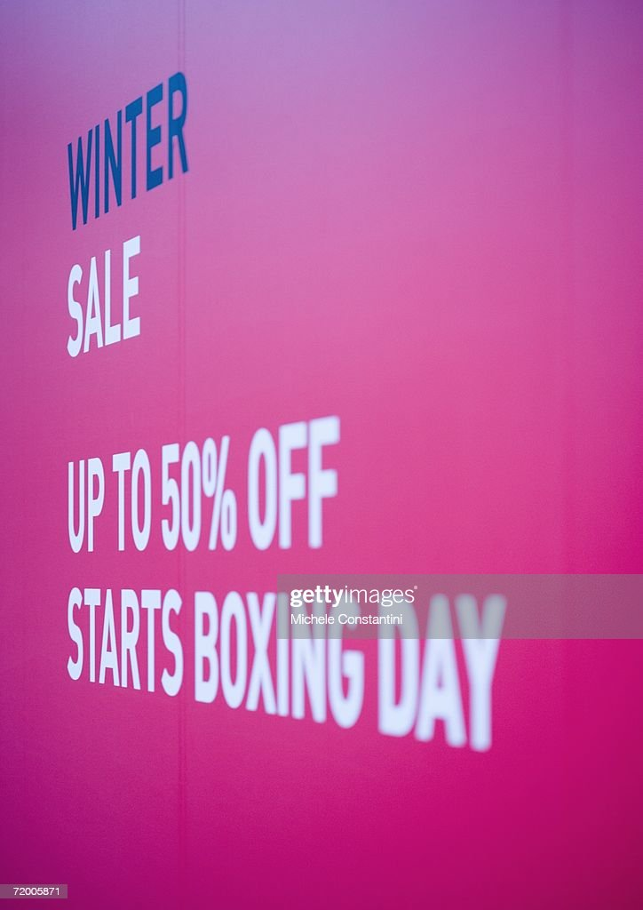 Poster announcing winter sale : Stock Photo