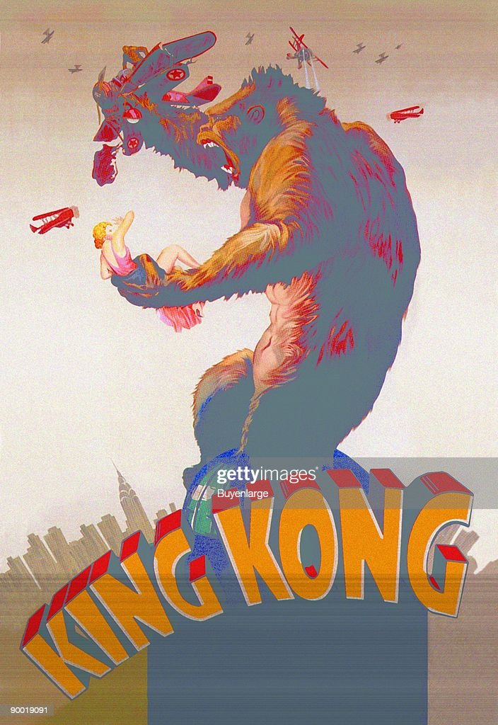 Poster artwork for the film 'King Kong'.