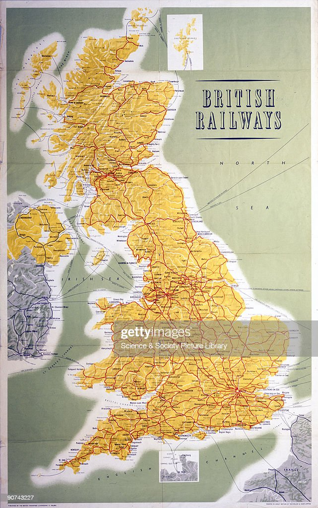 British Railways - Map of the System, 1962. : News Photo