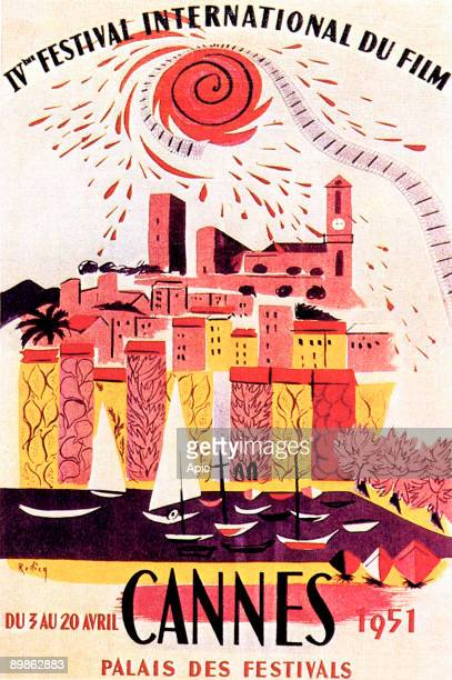 Poster by AM Rodicq for 4th International Film Festival in Cannes in 1951