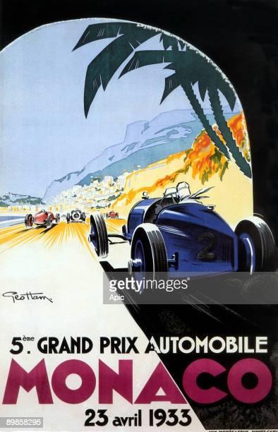 Poster by Geo Ham for Grand prix in Monaco 1933
