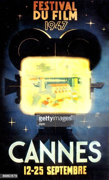 poster by JeanLuc of the second international film festival of Cannes in 1947 september 12th to 25th