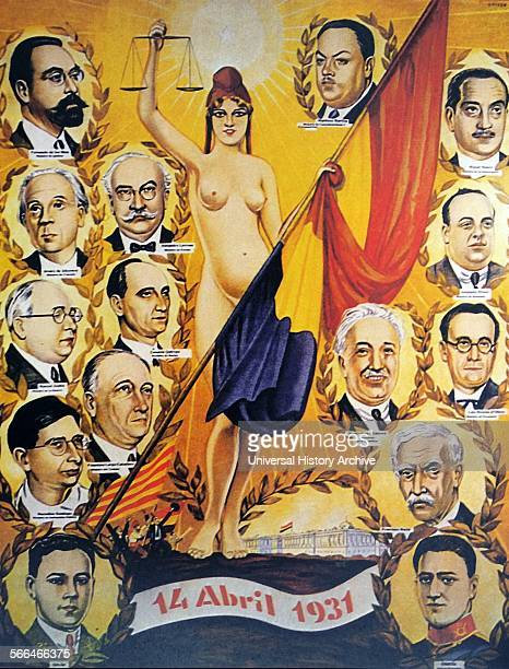 A poster celebrating the leaders of the Spanish Republic 1931