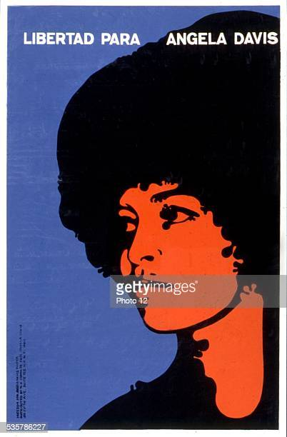 Poster claiming the release of Angela Davis United States Washington Library of Congress
