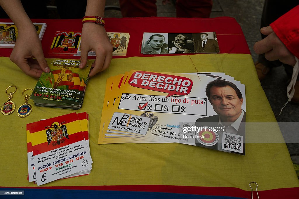Rally At 39th Anniversary Of The Death Of Former Dictator General Franco : News Photo