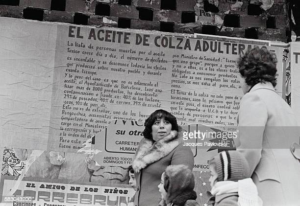 A poster denounces toxic colza cooking oil in a Madrid suburb In the early 1980s over a thousand Spaniards became severly ill or died after consuming...