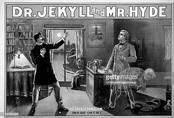 Poster depicting Dr Jekyll and Mr Hyde From the story by Robert Louis Stevenson Dated circa 1870