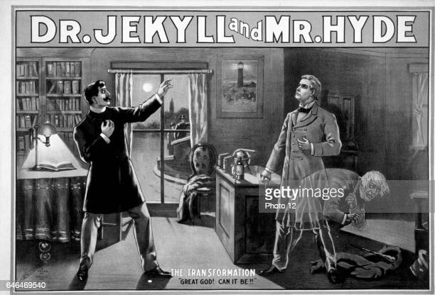 Poster depicting Dr Jekyll and Mr Hyde From the story by Robert Louis Stevenson