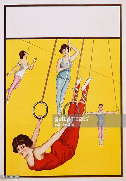 Poster Depicting Female and Male Acrobats