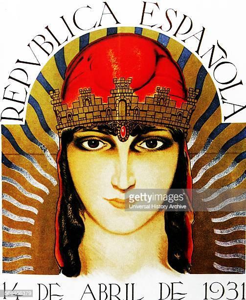Poster depicting republic of Spain 1931
