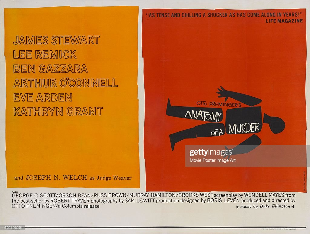 A Poster Designed By Saul Bass For Otto Premingers 1959 Drama