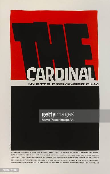 A poster designed by Saul Bass for Otto Preminger's 1963 drama 'The Cardinal'