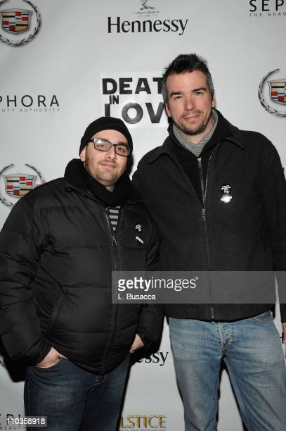Poster designers The Compound attend the Death in Love Party sponsored by AMC at the Hollywood Life House on January 22 2008 in Park City Utah