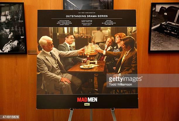 A poster displayed at the 'Mad Men' Directors QA at DGA Theater on May 27 2015 in Los Angeles California