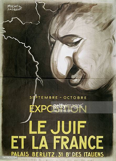 Poster drawn by Michel Jacquot for the exhibition organized by the Vichy Government and the Institute of Studies on Jewish Questions in Paris from...