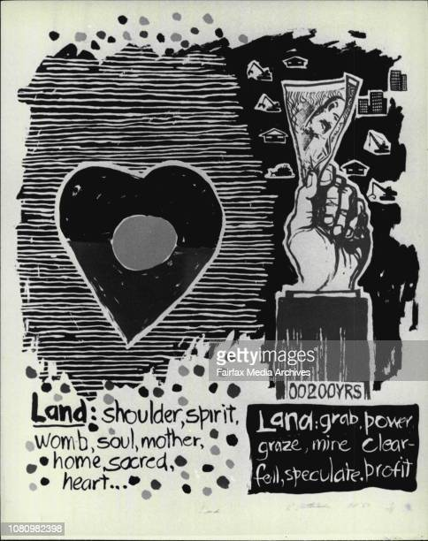 Poster exhibition at Sydney Uni., pro and anti Bicentennial. June 06, 1988. .